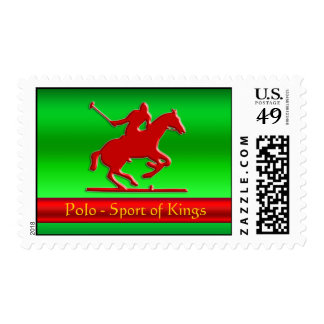 Embossed Polo Pony and Rider, red chrome-look Stamps
