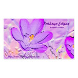 Embossed Purple Crocus Author Business Cards