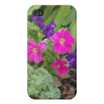 Embossed Purple Pink Floral Covers For iPhone 4