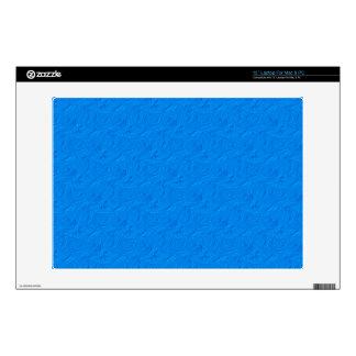 Embossed Roses Light Blue Vinyl Laptop Skin 13 in