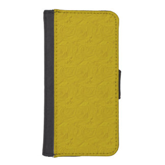 Embossed Roses Yellow iPhone 5/5s Wallet Case