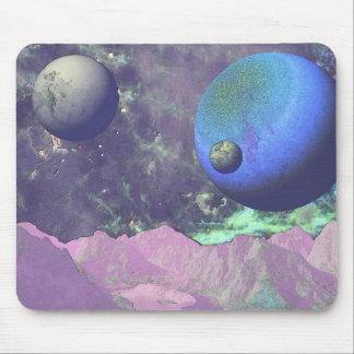 Embossed Scenic Alien World Mouse Pad