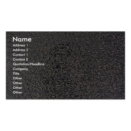 Embossed silver business card template