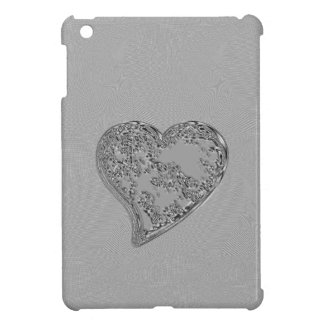 EMBOSSED SILVER DROPLET HEART COVER FOR THE iPad MINI