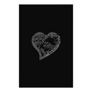 EMBOSSED SILVER HEARTS ON BLACK FLYER