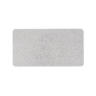 Embossed silver address label
