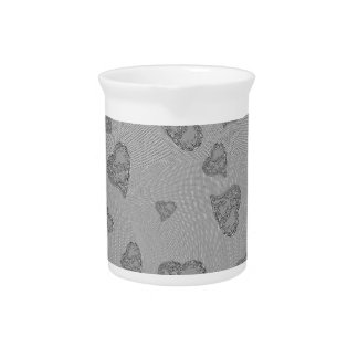 Embossed Silver Mini Hearts Drink Pitcher