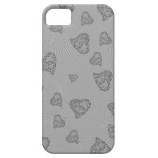 Embossed Silver Mini Hearts iPhone SE/5/5s Case