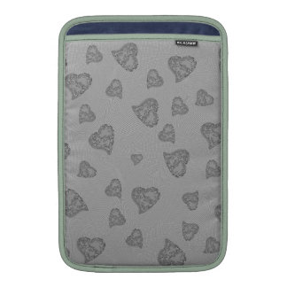Embossed Silver Mini Hearts Sleeve For MacBook Air