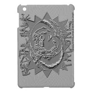 EMBOSSED SILVER REDTAIL HAWK TALONZ THEME COVER FOR THE iPad MINI