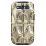 Embossed Silvery Gold Galaxy S3 Case