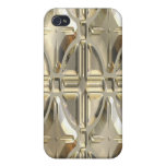Embossed Silvery Gold iPhone 4 Cover