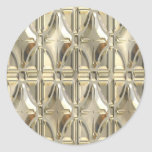 Embossed Silvery Gold Stickers