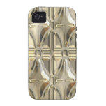 Embossed Silvery Gold Vibe iPhone 4 Cases