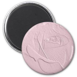 Embossed Soft Pink Rose Magnet