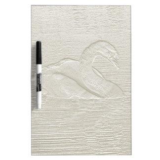 Embossed Swan effect dry wipe board Dry Erase Whiteboards