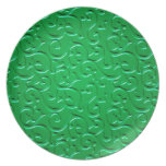 Embossed Swirls 4 Party Plates