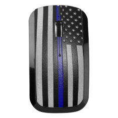 Embossed Thin Blue Line Flag Wireless Mouse at Zazzle