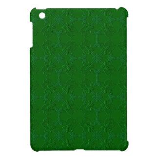 Embossed Tulip Applique Quilt GREEN iPad Mini Case