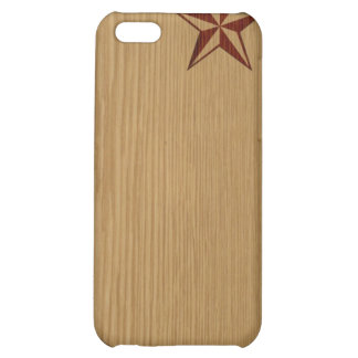 Embossed Wood Nautical Star iPhone Speck Case Cover For iPhone 5C