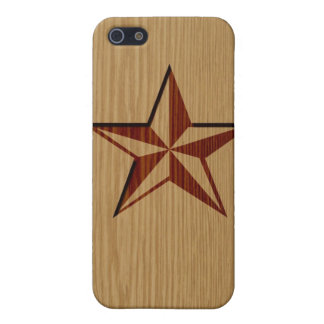 Embossed Wood Nautical Star iPhone Speck Case iPhone 5 Case