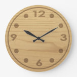Embossed Wood Wall Clocks