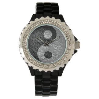 Embossed Yin Yang Dragon Design Wrist Watches
