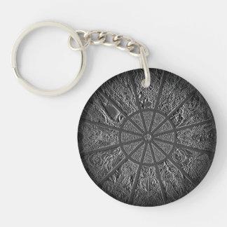 Embossed Zodiac Wheel Acrylic Keychain