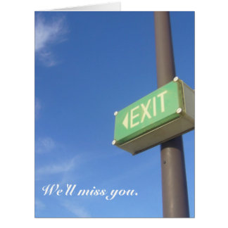 embossing you exit card