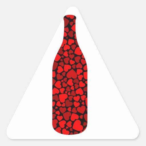 Embotelle con la poción de amor roja de los colcomanias triangulo personalizadas