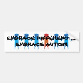 EMBRACE AUTISM BUMPER STICKER