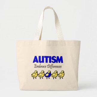 Embrace Autism (Ducks) Large Tote Bag
