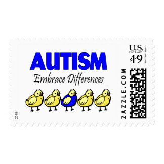 Embrace Autism (Ducks) Postage Stamps