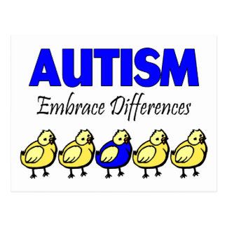 Embrace Autism (Ducks) Postcard