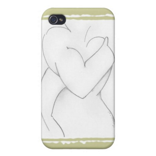 Embrace (baby shower) Add your own color iPhone 4 Covers