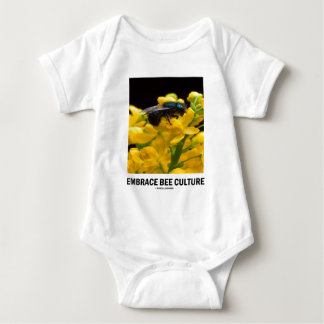 Embrace Bee Culture (Bee On Barberry Flower) Baby Bodysuit