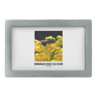 Embrace Bee Culture (Bee On Barberry Flower) Rectangular Belt Buckle
