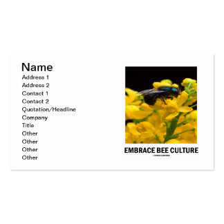 Embrace Bee Culture (Bee On Barberry Flower) Double-Sided Standard Business Cards (Pack Of 100)