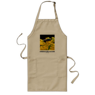Embrace Bee Culture (Bee On Barberry Flower) Long Apron