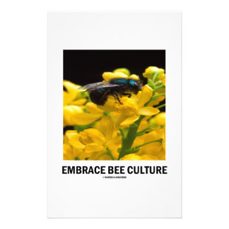 Embrace Bee Culture (Bee On Barberry Flower) Stationery