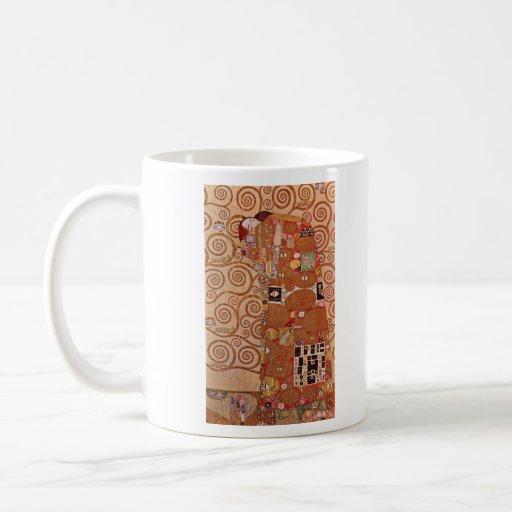 Embrace by Gustav Klimt Classic White Coffee Mug