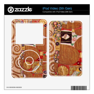 Embrace by Gustav Klimt Decals For iPod Video