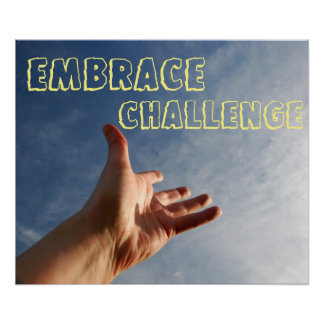 Embrace Challenge Motivational Poster