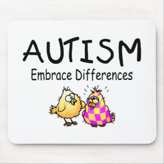 Embrace Differences (2 chicks) Mouse Mat