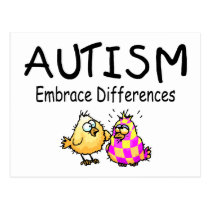 Embrace Differences (2 chicks) Postcard