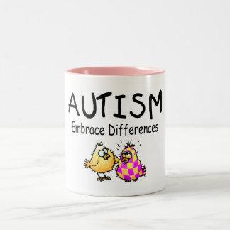 Embrace Differences (2 chicks) Two-Tone Coffee Mug
