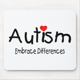 Embrace Differences (Happy Heart) Mouse Pad