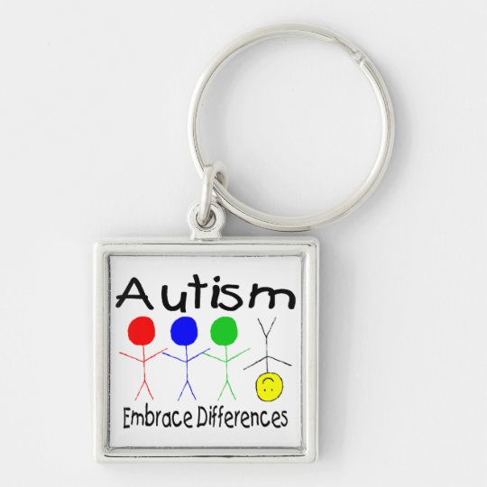 Embrace Differences Keychain