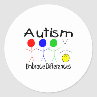 Embrace Differences (People) Classic Round Sticker