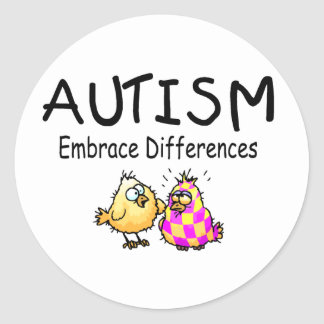 Embrace Differences (PY) Classic Round Sticker